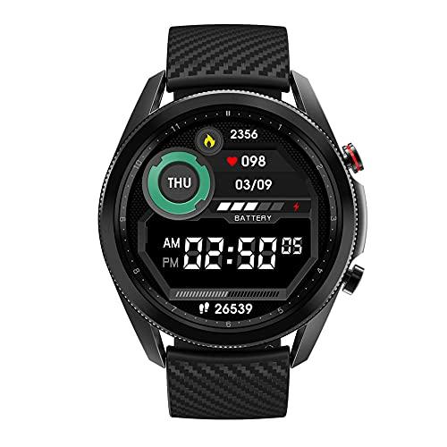 Reloj Inteligente diseñado1.3in, recordatorio de teléfono y SMS, monitoreo del sueño, Reloj Despertador, cámara remota, recordatorio sedentario, Esfera de Personalidad Rica-Pegamento Negro
