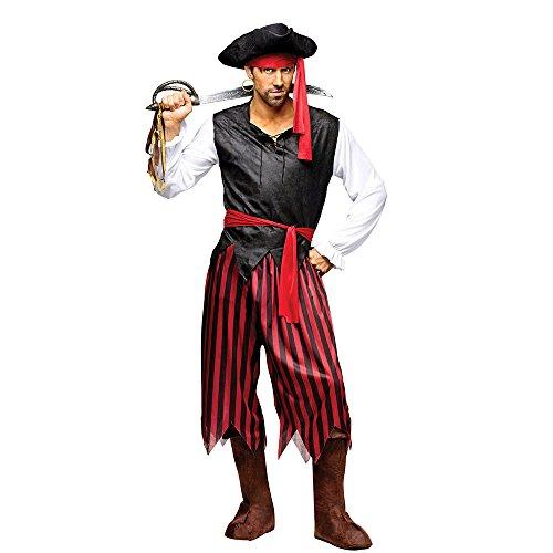 Fun World Men's Caribbean Pirate, Multi, Standard