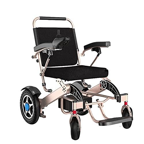 FGVDJ Scooters para Personas Mayores con discapacidades Silla de Ruedas eléctrica Plegable, aleación de Aluminio Material 300 kg Soporte de Carga Fuerte Sistema de Frenos