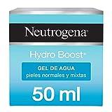 Neutrogena Hydro Boost Gel de Agua, Pieles Normales y Mixtas, Hidratación Duradera No Grasa, 50 ml