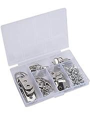 Ankerpunt 66 stks zilveren fotolijst haak foto frame klok muur opknoping D-ring hardware accessoires Veelgebruikte bevestigingsmiddelen in doe-het-zelf