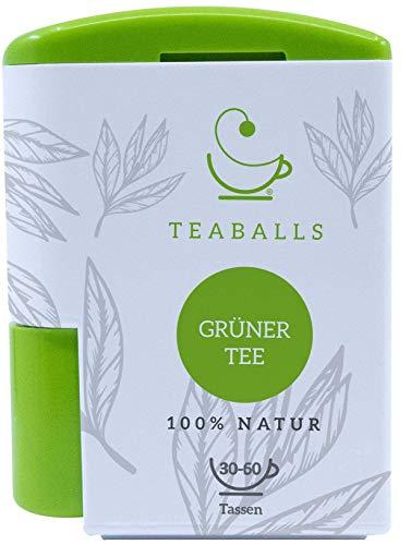 TEABALLS - Grüner Tee (1 x 6g)   120 Teaballs   für ca. 30-50 Tassen Tee   100% reines Pflanzenextrakt
