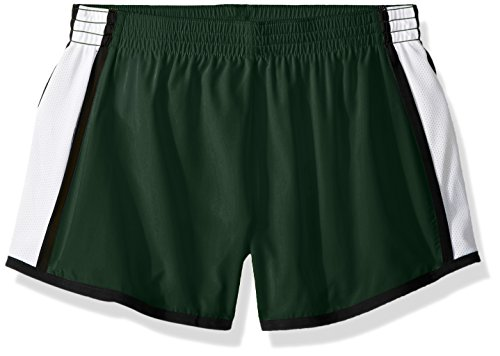 Augusta Sportswear Damen Augusta Girls Pulse Team, Dark Green/White/Black, Small Shorts, Dunkelgrün/Weiß/Schwarz, Klein