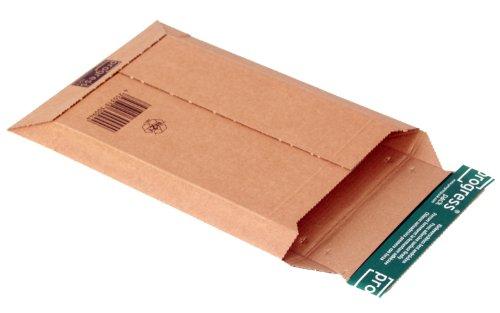 progressPACK Versandtasche Premium PP W01.02 aus Wellpappe, DIN A5, 187 x 272 x bis 50 mm, 25-er Pack, braun