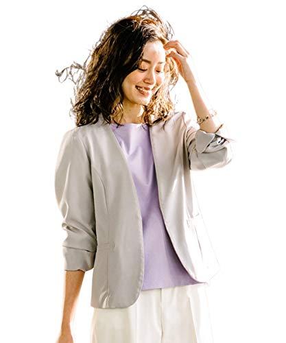 [nissen(ニッセン)] コート・ジャケット 洗濯機洗いOK 涼感 アウター 【うすカル】洗えるストレッチノーカ...