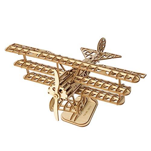 3D houtenpuzzel montage speelgoed modelbouw kits, vliegtuig