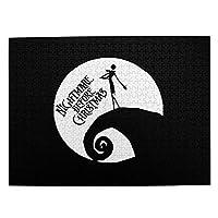 ナイトメアー ビフォア クリスマス ムービー 月 ロゴ 2 500ピースジグソーパズル 大人向け 減圧玩具 家の装飾 パズル 人気 パズルゲーム 知育おもちゃ