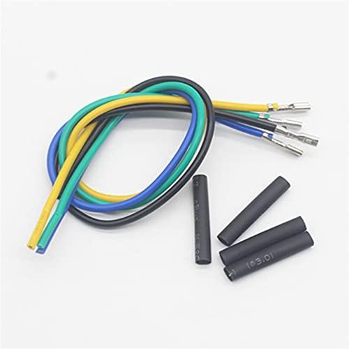 Botón Interruptor de botón de metal negro oxidado a prueba de 12mm con lámpara LED enclavadura momentánea PC Interruptor de alimentación 3V 5V 6V 12V 24V 220V ( Color : 4PCS , Size : Yellow )