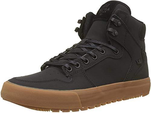 Supra Vaider CW Skate Shoe, Black/Black-Gum, 8.5 Regular US
