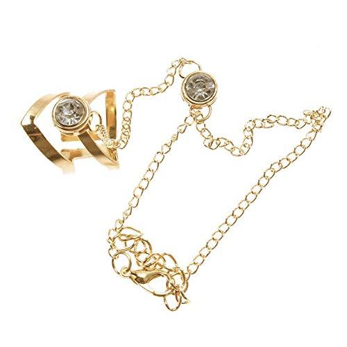 Yosemite Hohler Stil Geometrische Strass eingelegt Ethnische natürliche wunderschöne Perlenring Armband Hochzeit Brautschmuck Armreif Unise Geschenk Mehrfarbig