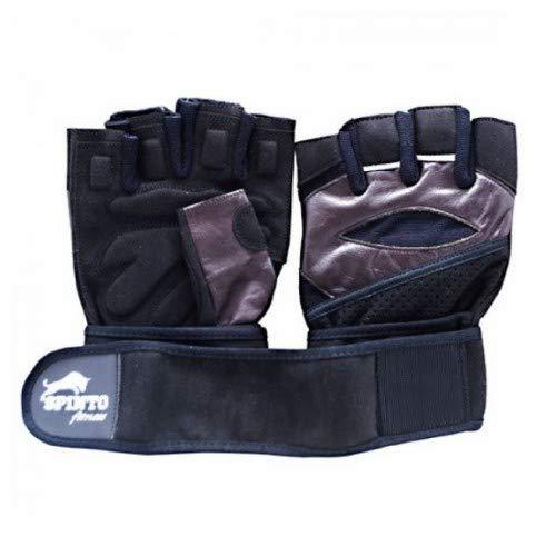 Spinto USA, LLC Men's Weight Lifting Gloves with Wrist Wraps Black, (Medium) 1-Medium Weight Lifting Gloves