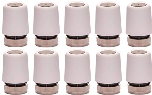 EAZY Systems | Stellantrieb 230V AC | für Fußbodenheizung | M30x1,5 | (NC) stromlos geschlossen | passend für nahezu jeden Heizkreisverteiler, Homeatic IP, Heimeier, u.v.m. | 10 Stück im Sparpack