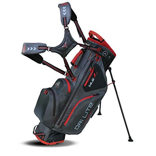 Big Max Dri Lite HYBRID Golf Cartbag & Standbag - Wasserabweisend - 2019 - Charcoal/Black/Red