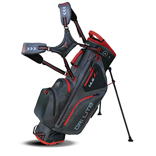 Big Max Dri Lite HYBRID Golf Cartbag & Standbag - Wasserabweisend - 2019 - Charcoal/Black/Red