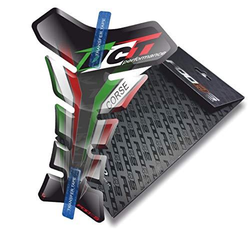 Tankpad für Ducati Panigale Monster 848 Evo 1098 748 999 Supersport 996 Diavel 1199 1299 (Schwarze Flagge)