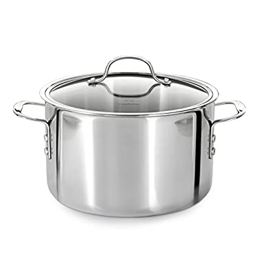 Calphalon Tri-Ply Stainless Steel 8-Quart Stock Pot with Cover