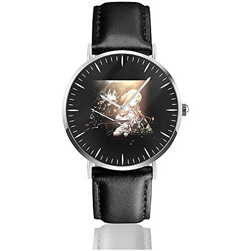 Sw-ord Art On-line Classic Orologi Cinturino in pelle nera Watche