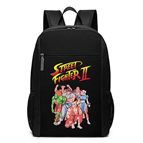 Mochila de Viaje de Mochila Escolar, Street Fighter II Video Game Inspired Backpacks Travel School Large Bags Shoulder Laptop Bag For Men Women Kids