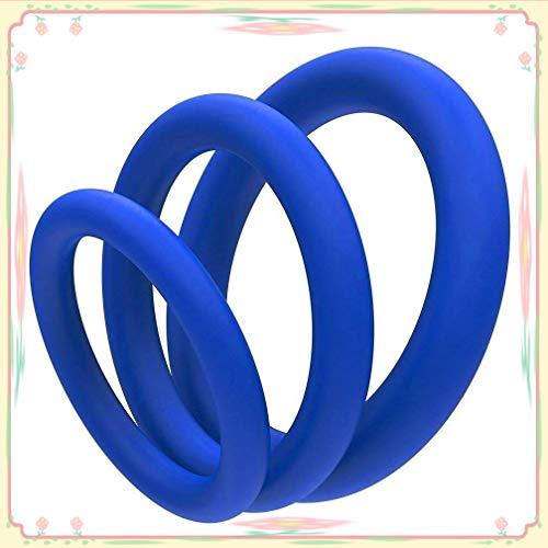 Juego de anillos de silicona de seguridad ultracómodos (juego de 3)