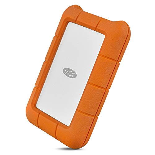 LaCie Rugged Thunderbolt USB-C 2TB External Hard Drive Portable HDD – USB 3.0 compatible, Drop Shock Dust Water Resistant, Mac and PC Computer Desktop Workstation Laptop, 1 Mo Adobe CC (STFS2000800)
