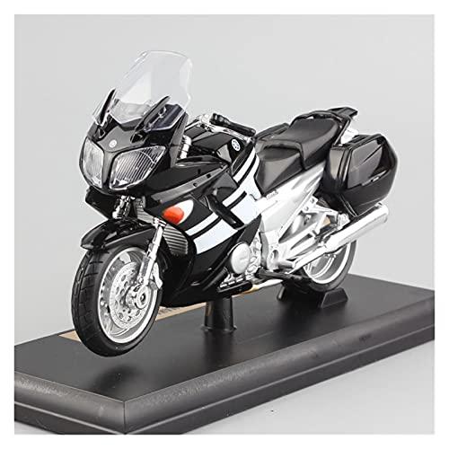 El Maquetas Coche Motocross Fantastico 1/18 para Yamaha FJR1300 Vehículo De Patrulla Deportiva Motocicleta Metal Modelos Juguete Fundido A Presión Moto para Niños Regalos Juegos Mas Vendidos
