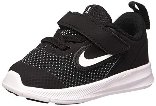 Nike Baby Kids Downshifter 9 Velcro Running Shoe, Black/White-Anthracite-Cool Grey, 9C Child US Toddler
