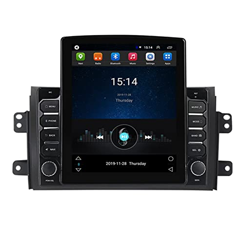 ADMLZQQ Doble DIN Android 9.7' Vertical Stereo Coche con 2.5D Screen,Autoradio Estéreo Coche Soporte Mirror-Link Mandos De Volante Cámara Trasera FM Am WiFi GPS DSP,para Suzuki SX4 2006-2014,Ts150