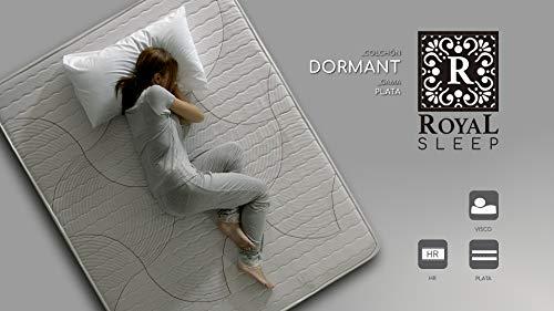ROYAL SLEEP Colchón viscoelástico 135x190 de máxima Calidad, Confort, adaptabilidad y firmeza Alta, Altura 19cm - Colchones Dormant