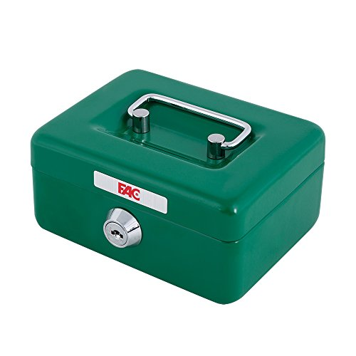 FAC 17016 - Mini caja de caudales con ranura, número 0, color verde, 0.5 L