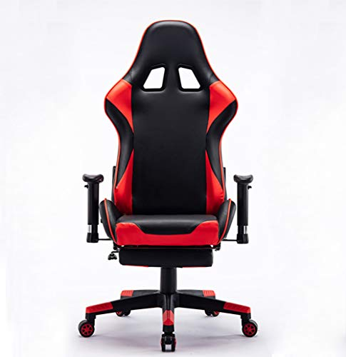 Preisvergleich Produktbild Gaming Stuhl Ergonomischer,  Racing Art-Gaming Rocker Stuhl,  Kopfstütze und atmungsaktiv hautfreundlicher Mesh,  mit Flip-Up Waffen und Lendenwirbelstütze, Rot