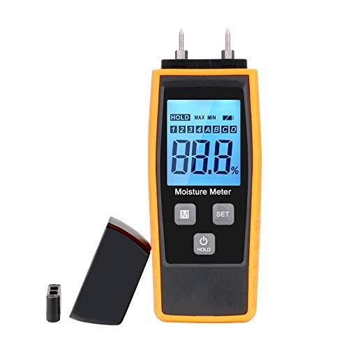 Bois l'humidité Mètre, V·RESOURCING l'humidité testeur numérique HD, écran LCD avec rétroéclairage Wood détecteur de l'humidité, 8 groupes Calibrées pour la Sélection et la 2 de notebook Sensor pins