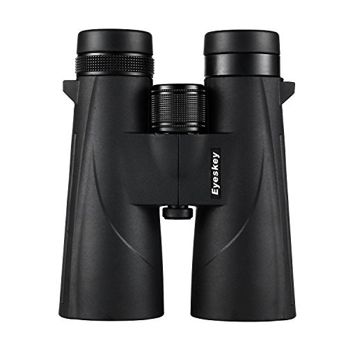 Eyeskey HD 10X50 Hunter Binoculars for Adults - Optimized Bak-4 Roof Prism Binos with FMC Lens - Fully Waterproof and Fog Proof - Super Clear Vision for Hunting Wildlife Watching