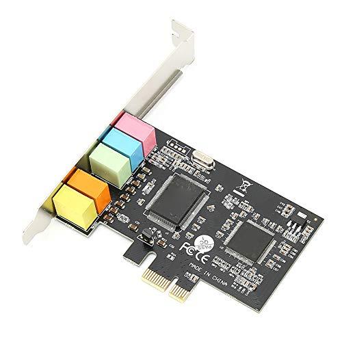 143 Scheda Audio Full-Duplex a 5.1 canali CMI8738 Scheda Audio Integrata Scheda Audio PCI E PCI Express con Funzione di cancellazione del bilanciamento del Rumore