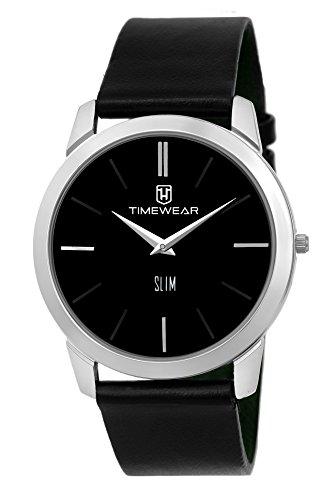 Timewear Analog Black Dial Slim Watch for Men
