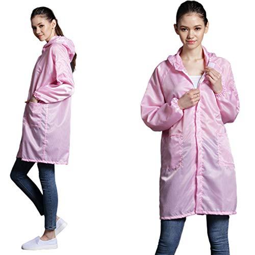 FR&RF Schutzkleidung mit Schutzkappe für die Industrie, staubfrei, staubdicht, antistatisch, 1 Stück Small Pink
