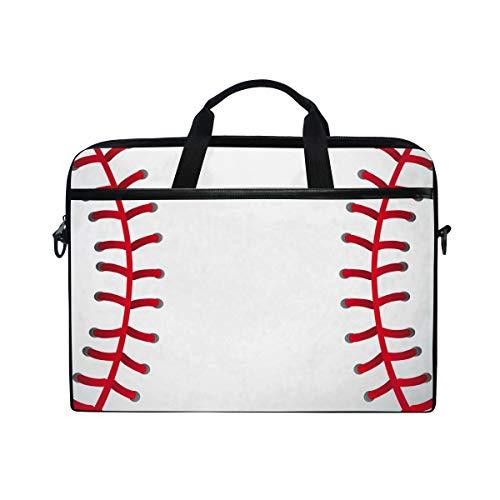 Linomo Computer Bag Baseball Print Sport Ball Laptop Sleeve Case Briefcase Messenger Sleeve Laptop Shoulder Bag fits 13 Inch 14 Inch 14.5 Inch Laptop for Women Men Office Kids School