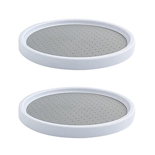 Komake Especiero giratorio de 2 piezas, Porta Especiero Giratorio de 360 ° Organizador de Cocina para Especias Cocina para Especias, para Despensa de Armario, Especias, Almacenamiento de Bebidas