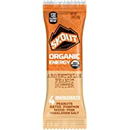 Skout Backcountry Organic Date and Pumpkin Seed Energy Bar - Argentinian Peanut Butter - 12 Bars