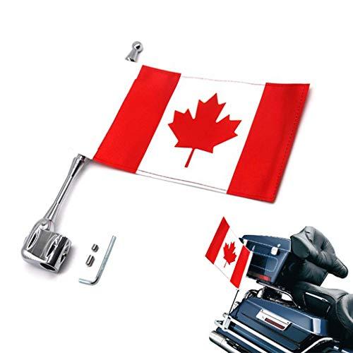 Motorrad Dekoration Flagge und Fahnenmast für GL1800 Goldwing All Years (Canada)
