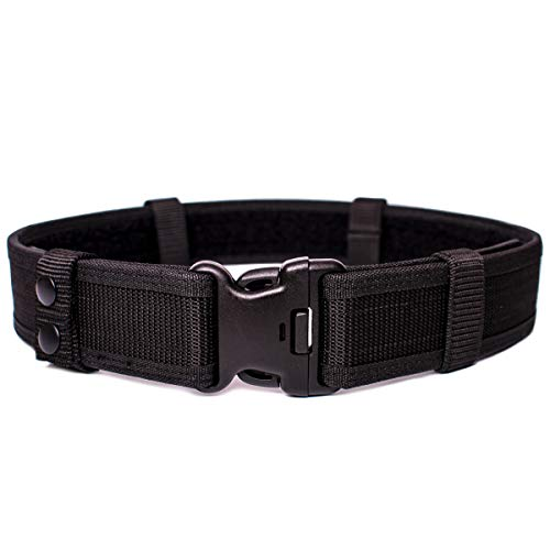JIEDE Duty Belt | Stiffened Nylon Gun Belt for Concealed Carry | Adjustable Military Tactical Belt for Holsters, Pouches, Military Training | Heavy Duty Police Equipment EDC Belt (L (41''-45''))