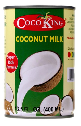 CocoKing 20% Coconut Milk, 13.5 Ounce (Pack of 24)