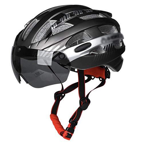 OUYA Casco de bicicleta ajustable para hombre y mujer, ciclismo de montaña con gafas magnéticas desmontables para adultos de carretera, ciclismo, ciclismo de montaña, M