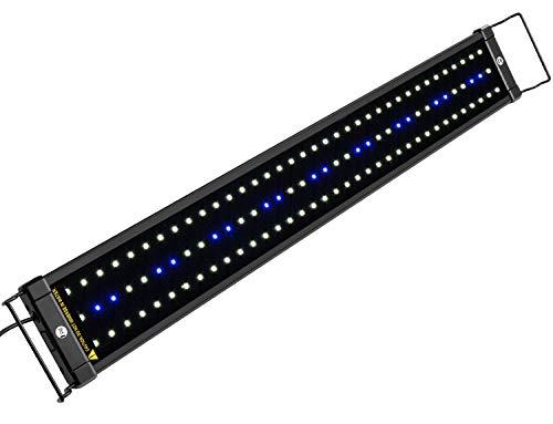 NICREW ClassicLED Luz LED Acuario, Pantalla LED Acuario, Iluminación LED para Acuarios Plantados Lámpara LED para Peceras 75-105 cm, 18W,...