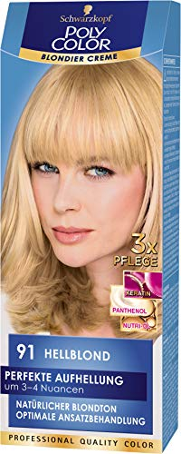 SCHWARZKOPF POLY COLOR Blondier Creme Coloration 91 Hellblond, 1er Pack (1 x 115 ml)