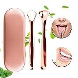 Zungenreiniger Zungenschaber Xpassion medizinischer Zungenreiniger aus Edelstahl gegen Mundgeruch und