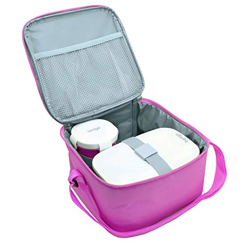 Bentgo Bag (Purple) - Insulated Lunch Bag Keeps Food Cold On the Go - Fits the Bentgo Classic Lunch Box, Bentgo Cup, Bentgo Sauce Dippers and an Ice Pack - Also Works For Other Food Storage Containers