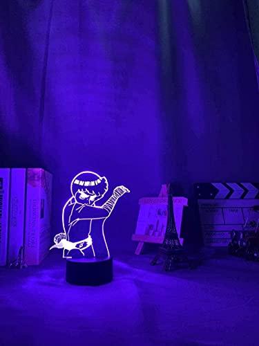 MENG Lámpara de Anime para Decoración de Dormitorio Niños Niños Niño Regalo de Cumpleaños Rock Lee Light Night Light