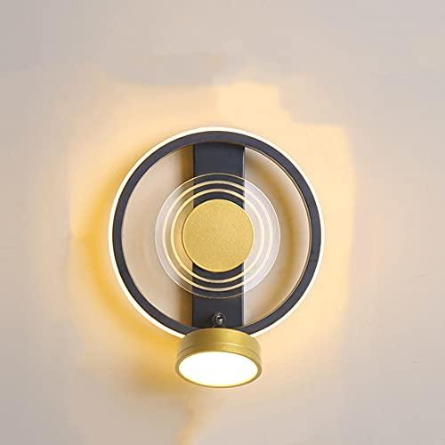 SCZWP8 Lampada da Parete A LED Dimmerabile Lampada da Parete in Ferro Battuto Lampada da Parete Cablata Lampada da Parete Nordica Adatta per Camera da Letto Bagno Soggiorno Paralume in Acrilico