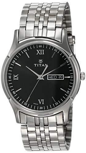 Titan Karishma Analog Black Dial Men's Watch -NK1636SM01