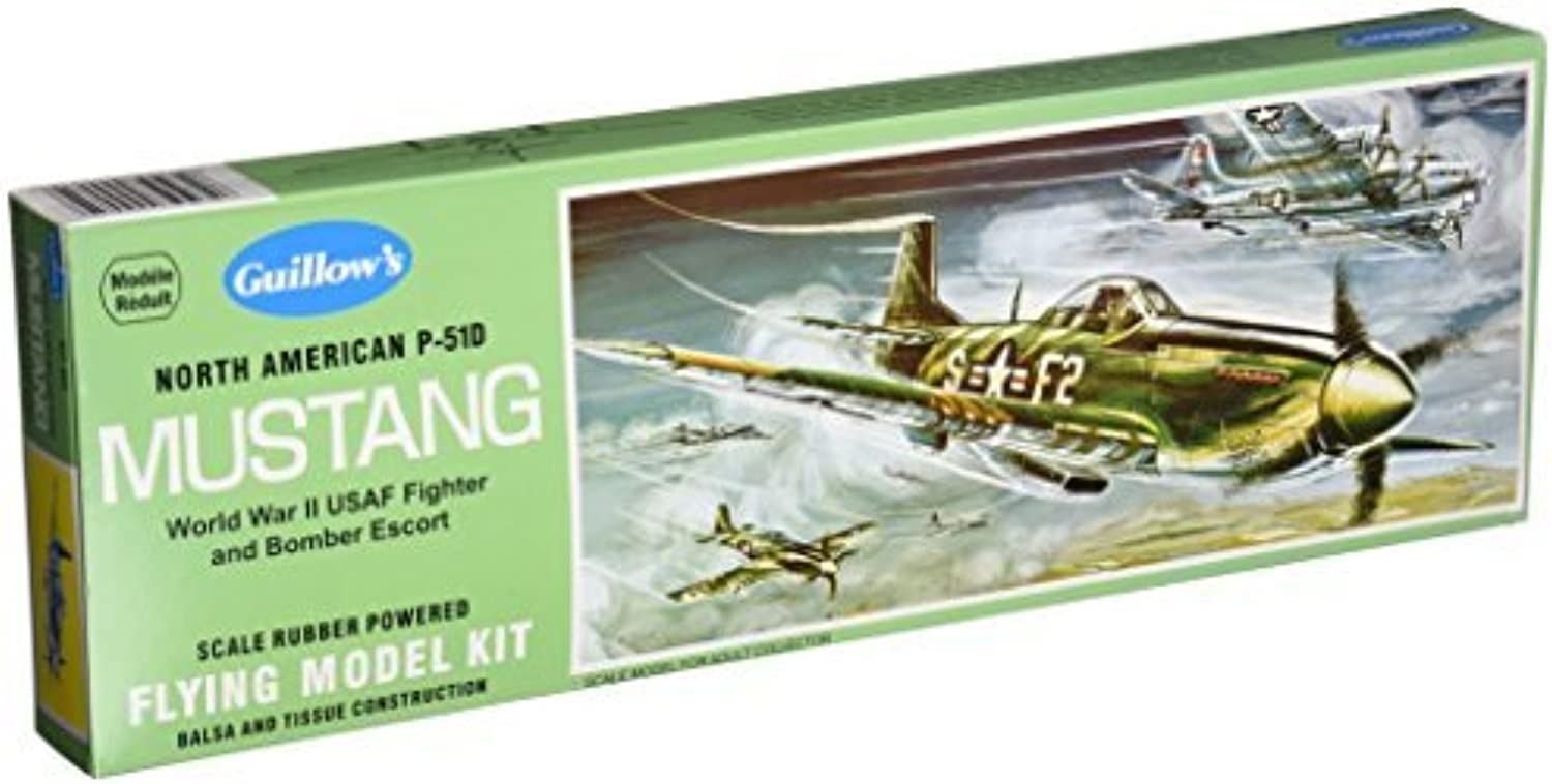 GUILLOW's P51D Mustang 905 Powered Balsa Flying Model Kit by Guillows